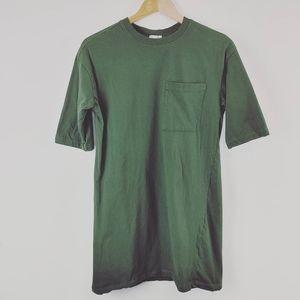 ARDENE   Basic Green Crew neck T-shirt Long Length